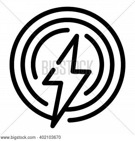 Renewable Energy Icon. Outline Renewable Energy Vector Icon For Web Design Isolated On White Backgro