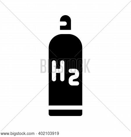 Hydrogen Reservoir Glyph Icon Vector Illustration Black