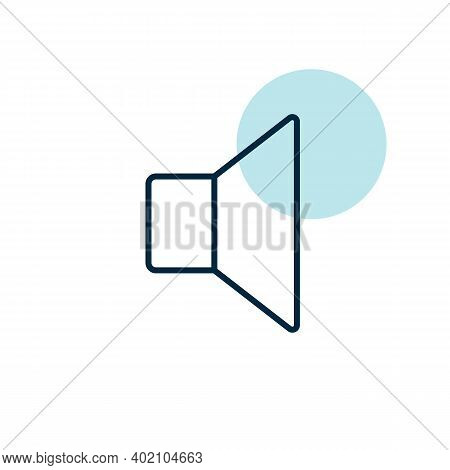 Speaker Vector Flat Icon. Music Sign. Graph Symbol For Music And Sound Web Site And Apps Design, Log