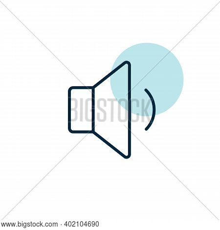 Minimum Volume Sound Music Vector Flat Icon. Graph Symbol For Music And Sound Web Site And Apps Desi