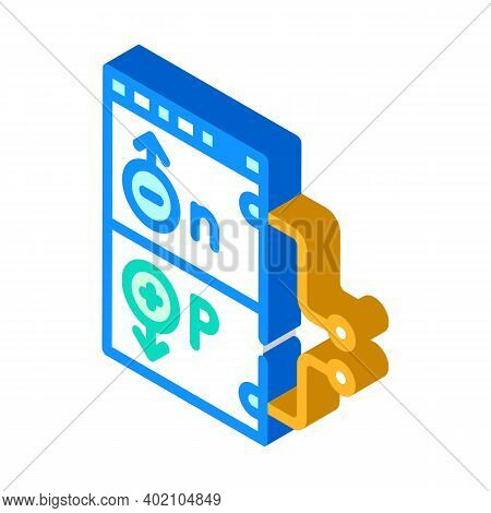Working Principle Isometric Icon Vector Illustration Color