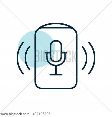 Voice Assistant Concept Vector Icon. Music Sign. Graph Symbol For Music And Sound Web Site And Apps