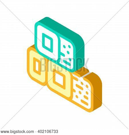 Bio Fuel Briquettes Isometric Icon Vector Illustration