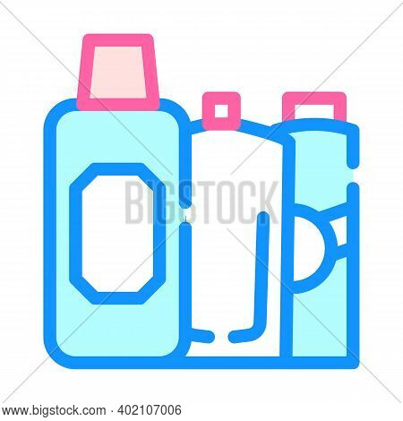 Clarifier And Oxides For Hair Coloring Color Icon Vector Illustration