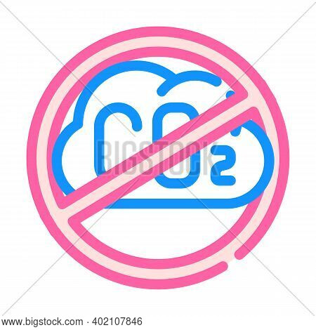 Without Carbon Dioxide Emissions Color Icon Vector Illustration