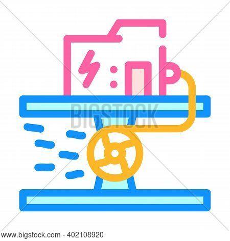 Hydro Generator Color Icon Vector Illustration Color
