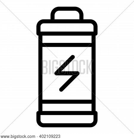 Eco Friendly Battery Icon. Outline Eco Friendly Battery Vector Icon For Web Design Isolated On White