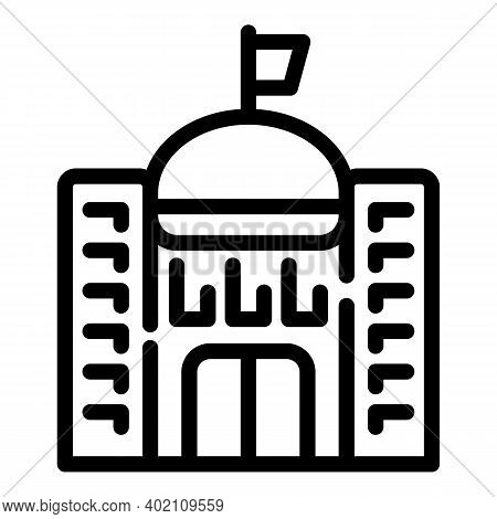 City Hall Icon. Outline City Hall Vector Icon For Web Design Isolated On White Background