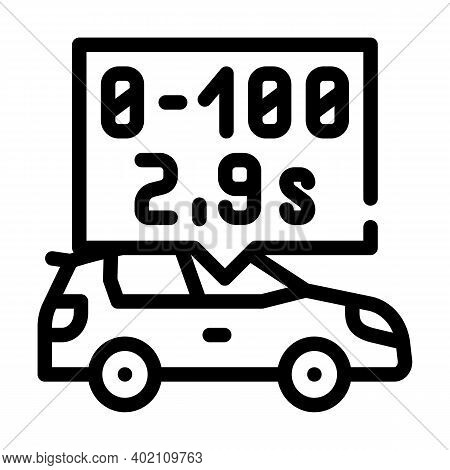 Characteristics Of Electric Car Line Icon Vector Illustration
