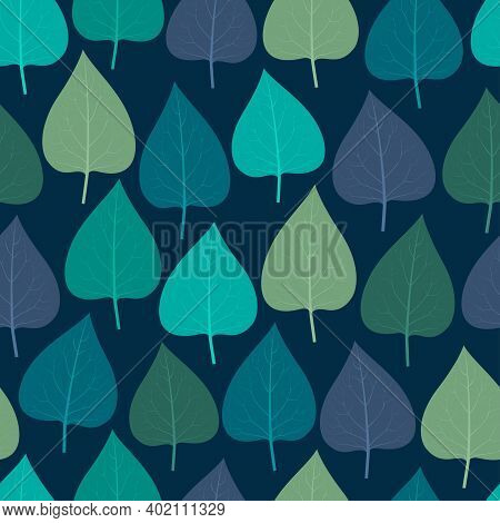 Elegant Trendy Seamless Vector Floral Ditsy Pattern Design Of Exotic Heart Shape Lilac Leaves. Folia