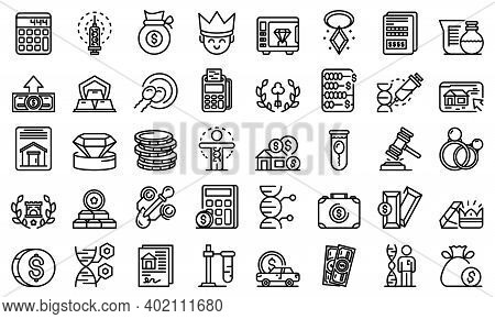 Inheritance Icons Set. Outline Set Of Inheritance Vector Icons For Web Design Isolated On White Back
