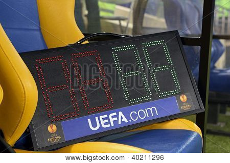 Indicator Tableau At Metalist Kharkiv Football Stadium