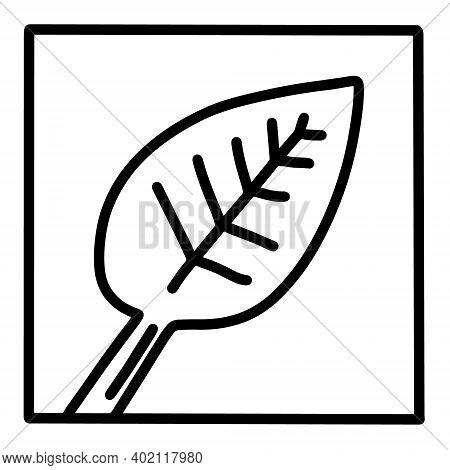 Spinach Leaf Hand Drawn Vector Icon Doodle Logo In Cartoon Style Black White Contrast