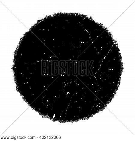 Distress Circular Dirty Overlay Texture. Grunge Round Used Post Stamp Background. Circle Urban Grain