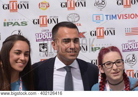 Giffoni Valle Piana, Sa, Italy - July 23, 2019 : Luigi Di Maio At Giffoni Film Festival 2019 - On Ju