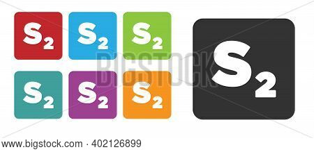 Black Bingo Icon Isolated On White Background. Lottery Tickets For American Bingo Game. Set Icons Co