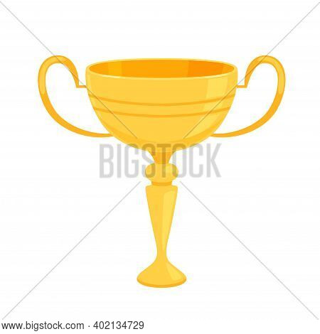 Gold Shiny Cup As A Reward For Winning Sports Competitions Or Competitions.