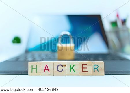 Computer And Internet Security Concept: Laptop And Lock