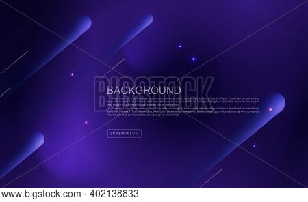 Dark Blue Geometric Background With Oblique Stripes With Gradient