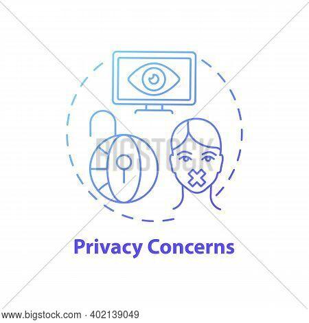 Privacy Concerns Concept Icon. Journalism Challenge Idea Thin Line Illustration. Data Breaches. Priv