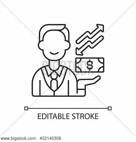 Equity Linear Icon. Ownership Of Assets That May Have Debts Or Other Liabilities Attached To Them. T