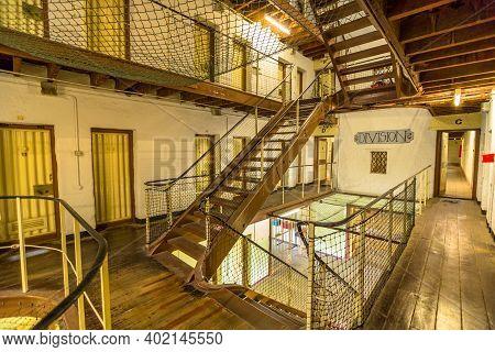 Fremantle, Western Australia, Australia - Jan 5, 2018: Division 2 And Internal Stairs Inside Fremant