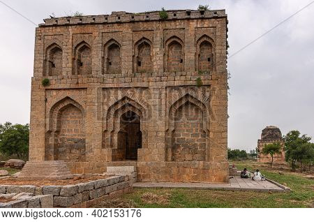 Kadirampura, Karnataka, India - November 5, 2013: Dargah And Tombs. Front And Side View On Islamic S