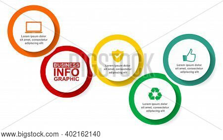Infographic Vector Template For Presentation, Chart, Diagram, Graph, Business Concept With 4 Options