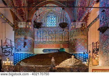 Konya, Turkey - 12 December 2020: Jalal Ad-din Muhammad Rumi Kistn Mevlana