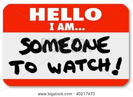 Olá eu sou alguém para assistir a destacar uma pessoa especial de um adesivo de namtag com as palavras ou ca de trabalho
