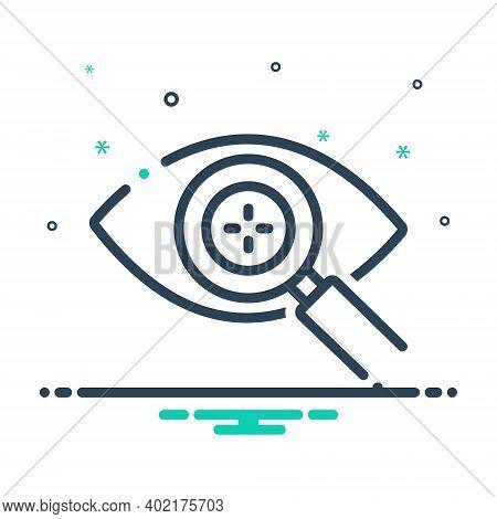 Mix Icon For Eye Detect Eye Detect Magnifying Intelligent Retina