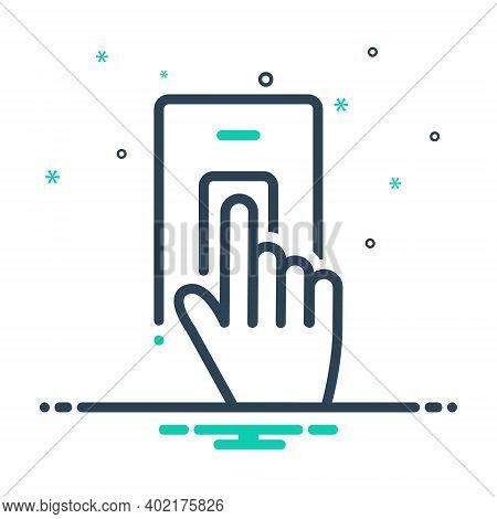 Mix Icon For Finger Scan Finger Scan Security  Biometric Verification Identification Attendance