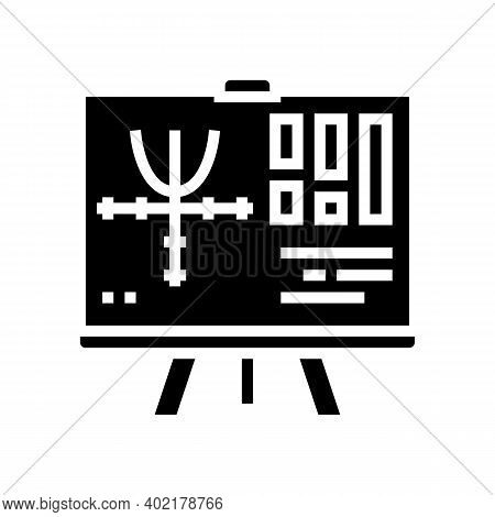 Graphics Geek Glyph Icon Vector. Graphics Geek Sign. Isolated Contour Symbol Black Illustration