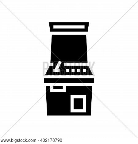 Slot Machine Geek Glyph Icon Vector. Slot Machine Geek Sign. Isolated Contour Symbol Black Illustrat