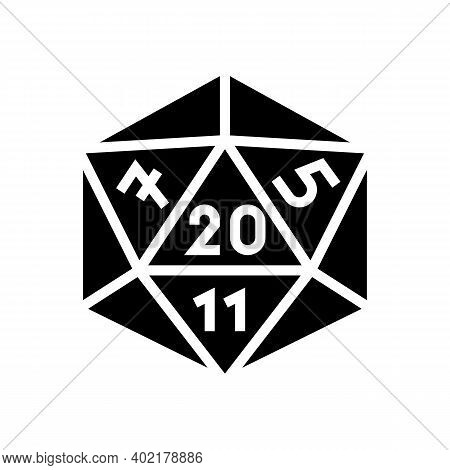 Numerology Geek Glyph Icon Vector. Numerology Geek Sign. Isolated Contour Symbol Black Illustration