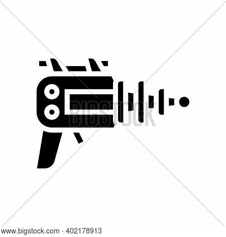 Futuristic Weapon Geek Glyph Icon Vector. Futuristic Weapon Geek Sign. Isolated Contour Symbol Black