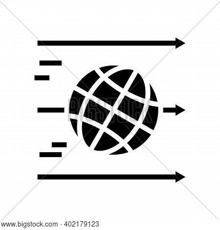World Linear Economy Glyph Icon Vector. World Linear Economy Sign. Isolated Contour Symbol Black Ill