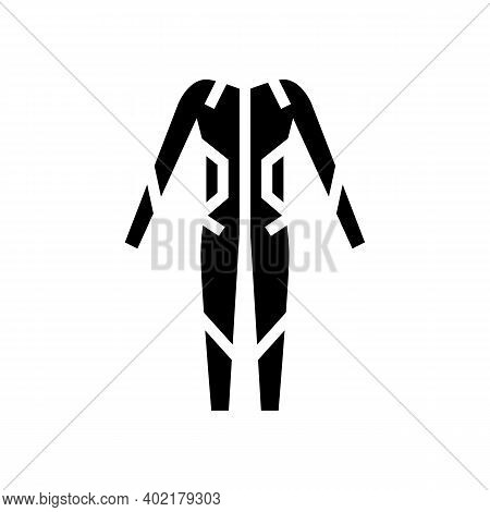 Swimming Suit Glyph Icon Vector. Swimming Suit Sign. Isolated Contour Symbol Black Illustration