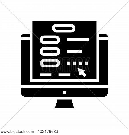 Online Authentication Glyph Icon Vector. Online Authentication Sign. Isolated Contour Symbol Black I