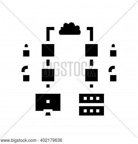 Multi-stage Encryption Glyph Icon Vector. Multi-stage Encryption Sign. Isolated Contour Symbol Black