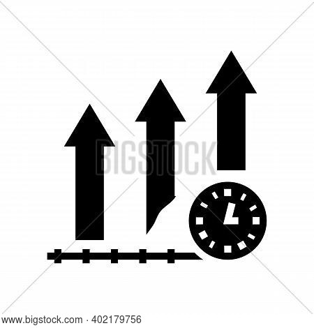 Growth Productivity Glyph Icon Vector. Growth Productivity Sign. Isolated Contour Symbol Black Illus