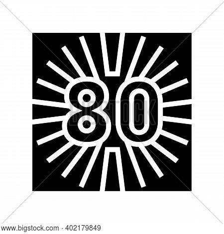 80s Nostalgia Glyph Icon Vector. 80s Nostalgia Sign. Isolated Contour Symbol Black Illustration