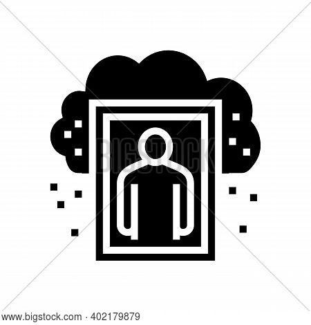 Human Missed And Nostalgia Glyph Icon Vector. Human Missed And Nostalgia Sign. Isolated Contour Symb