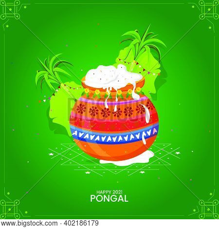 Illustration Of Happy Pongal Holiday Harvest Festival Of Tamil Nadu South India Greeting Backgrounds