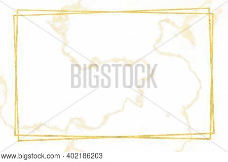 Gold Border White Marble Pattern And Luxury Interior Wall Tile And Floor