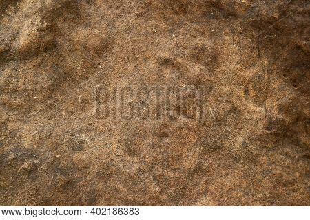 Hard Heavy Rust Copper Granite Stone Surface Of Cave For Interior Wallpaper