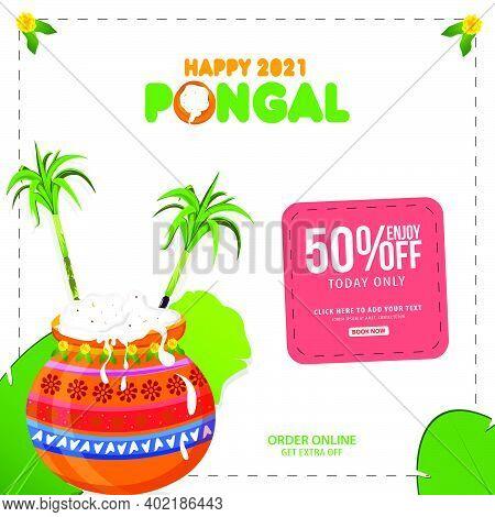 Pongal Festival Sale Template Design - Indian Religion Festival Pongal Background Template