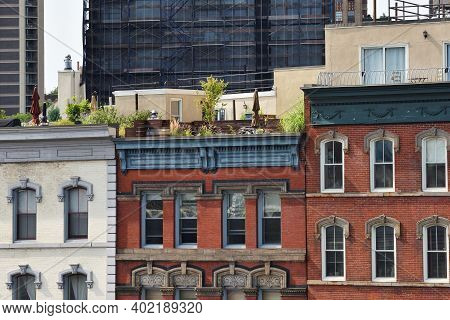 New York City - August 27: Architecture Details Of Manhattan On August 27, 2017 In New York City, Ny