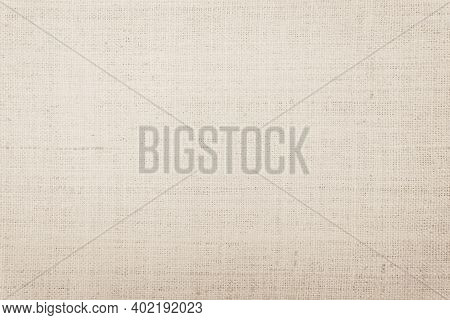 Brown Hemp Rope Texture Background. Sackcloth Or Blanket Wale Linen Wallpaper. Rustic Sack Canvas Fa