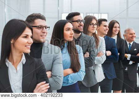 Group Of Diverse Business People Standing Togethe